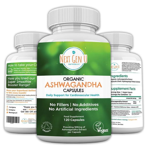 Buy Now Organic Ashwagandha Capsules at Next Gen U