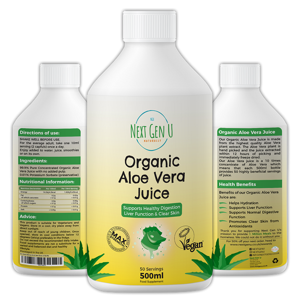 Organic Vegan Aloe Vera Juice 500ml