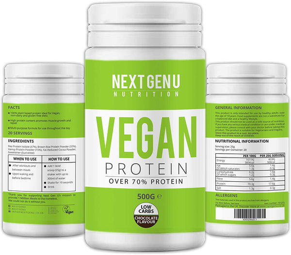Vegan Chocolate Protein Powder 500g