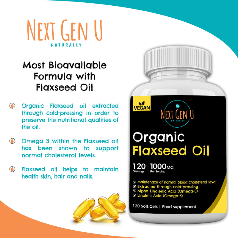 Organic Flaxseed Oil Capsules | Next Gen U