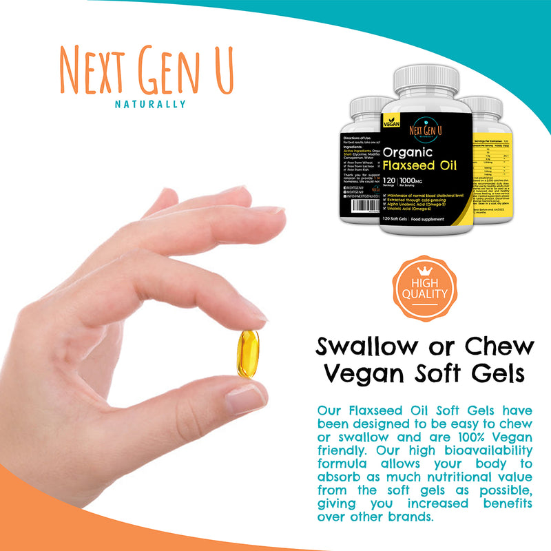 Vegan Flaxseed Oil Capsules | Next Gen U