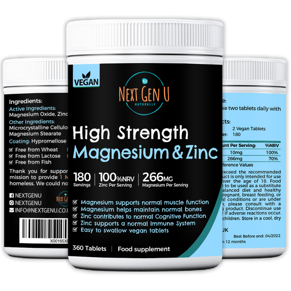 Buy Now -High Strength Magnesium and Zinc Tablets