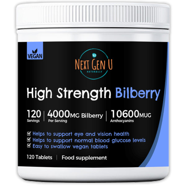 Buy High Strength Vegan Bilberry Tablets