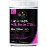 120 Milk Thistle 5750mg High Strength Vegan Tablets
