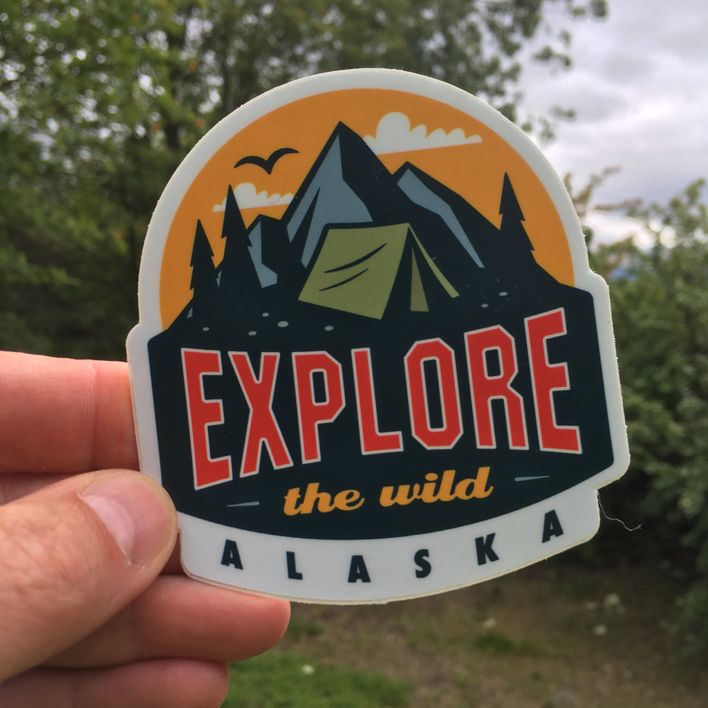 Explore the Wild sticker