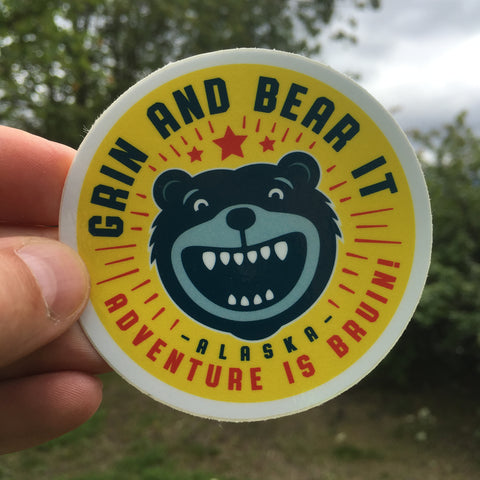 Grin and Bear it sticker