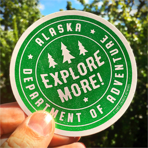 Department of Adventure sticker