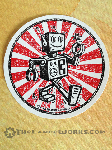 Happy Robot Sticker
