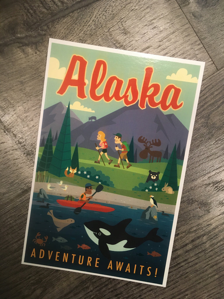 Adventure Awaits! postcard