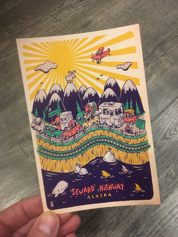 Seward Highway postcard