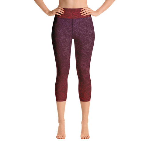 Primitive Fish Print - Yoga Capri Leggings