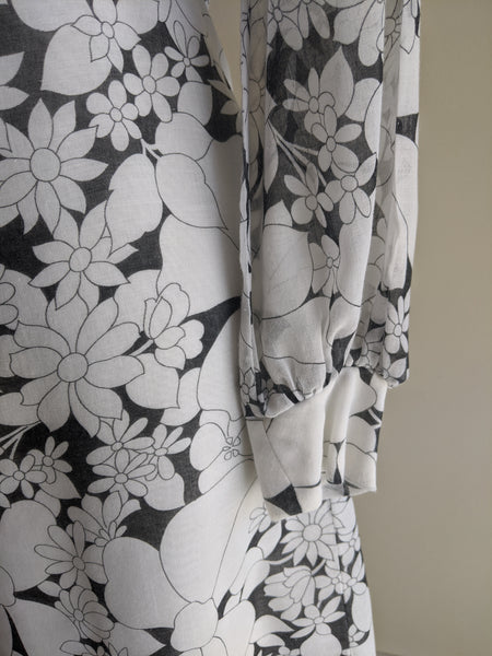 Black & White 60's Two Piece Dress