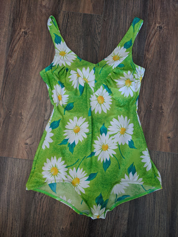 Green Floral One-Piece Swimsuit