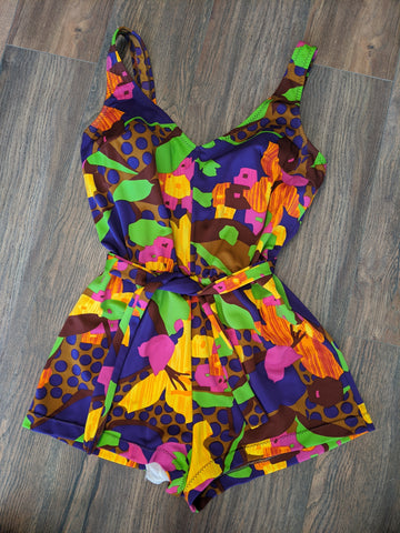 Psychedelic Multicolour One-Piece Swimsuit