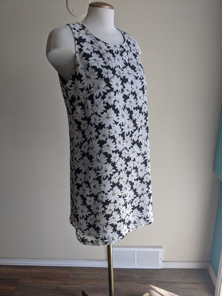 1990's Daisy-Print Mini-Dress