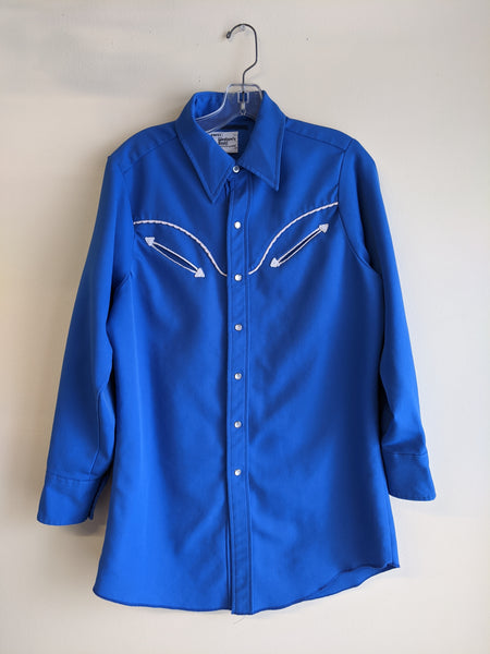 Men's 1970's Western Pearl-Snap Shirt