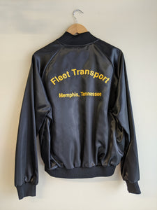 Black Satin Memphis Fleet Transport Jacket