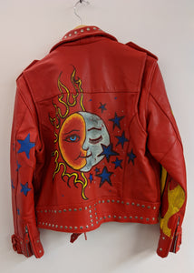 Incredible Hand-Painted Motorcycle Jacket