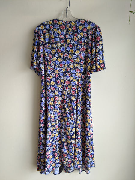 90's Floral Button-Down Dress