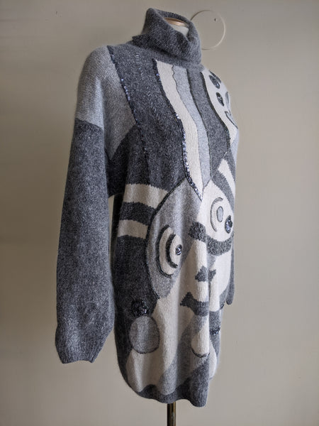 1980s Angora Sweater Dress