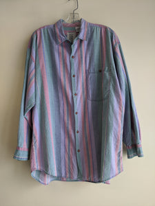 Multicolour 90's Striped Shirt