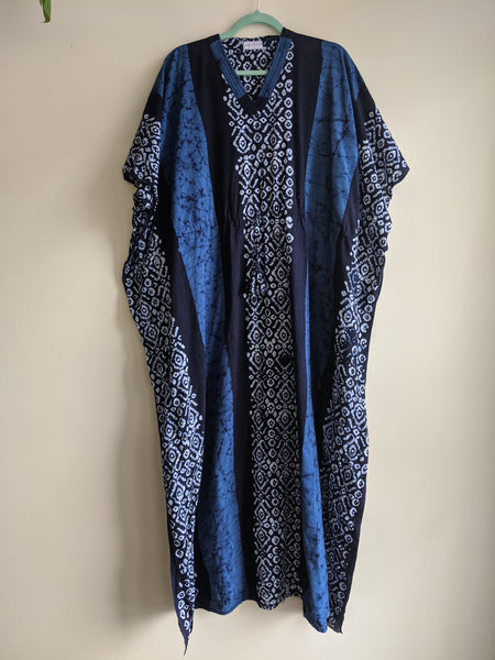 Beautiful Blue Batik Caftan