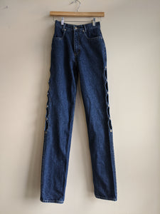 Lawman High-Waisted Cutaway Jeans