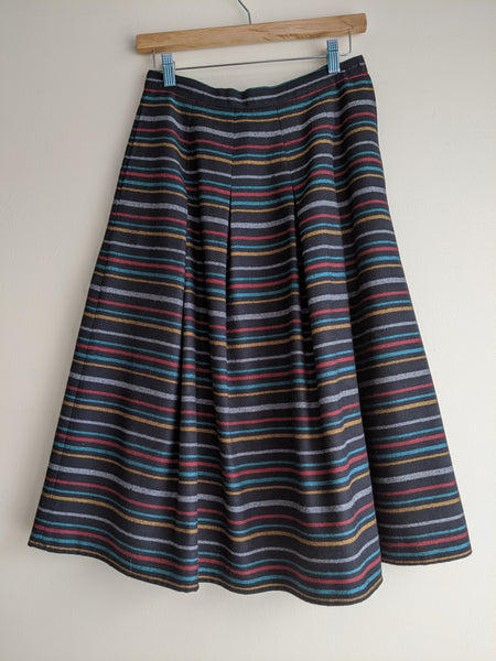 Snazzy Striped Wool Circle Skirt by Eaton's