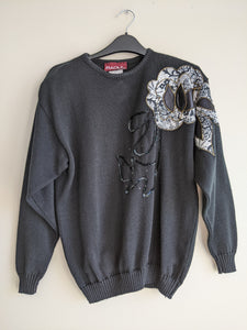 Bedazzled Black Sweater