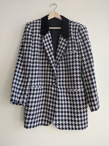 Black Houndstooth Blazer