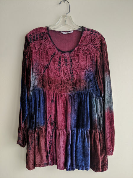 Velvet Tiered Le Chateau Blouse