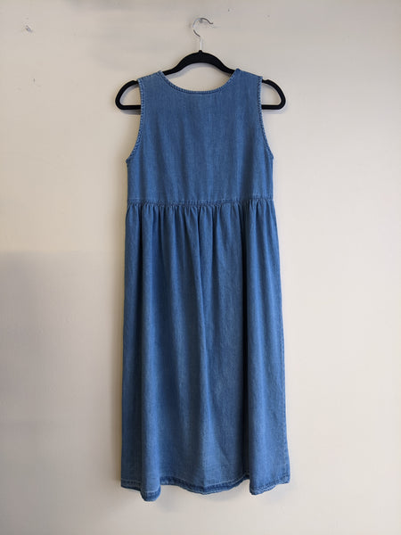 1990s Denim Midi Dress