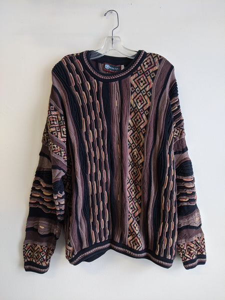Thick Knit Patterned Tundra Sweater