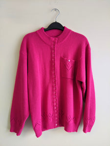 Fantastic Pink Bazillion Button Cardigan