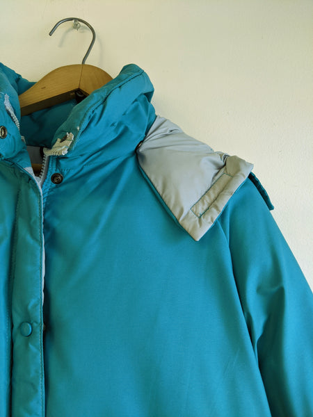 Teal Hobo Shop Down Ski Jacket