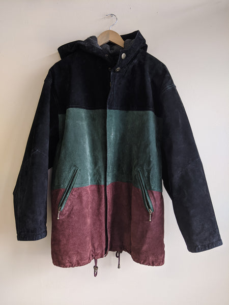 90's Colourblock Suede Jacket