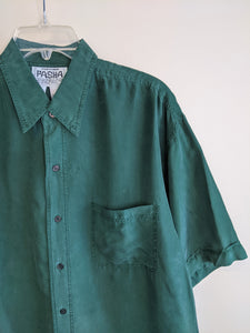 Forest Green Silk Shirt