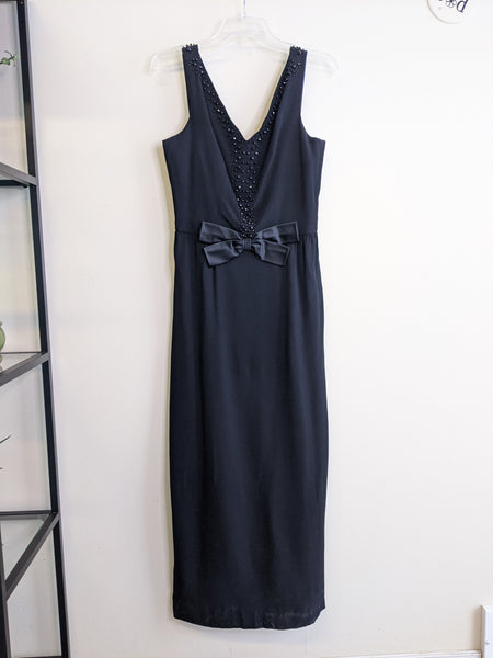 1960's Black Formal Maxi-Dress