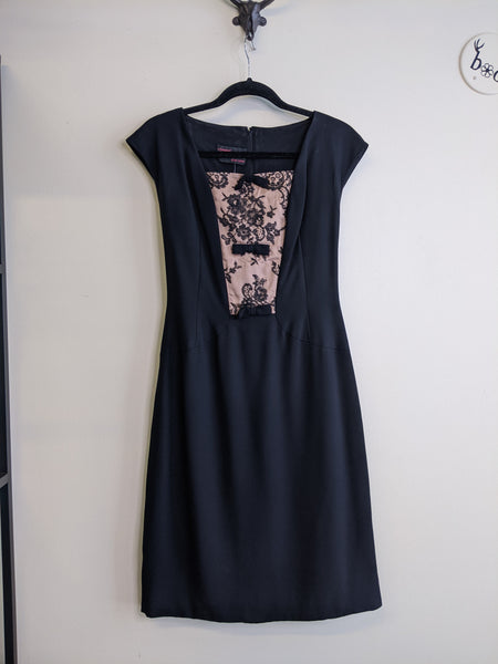 Lacy Little Black 1960's Dress