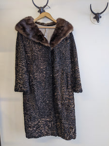 Brown & Black Persian Lamb Coat