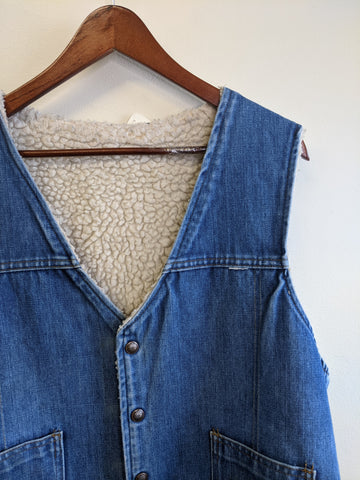 Fleece-Lined Denim Vest