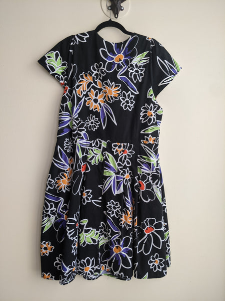 Graphic Floral Print Dress