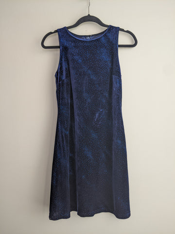 Y2K Shimmering Dark Blue Minidress