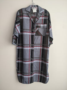 Plaid 70's Shirt Dress