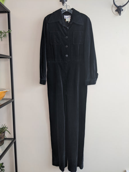 Black Velvet 70's Jumpsuit