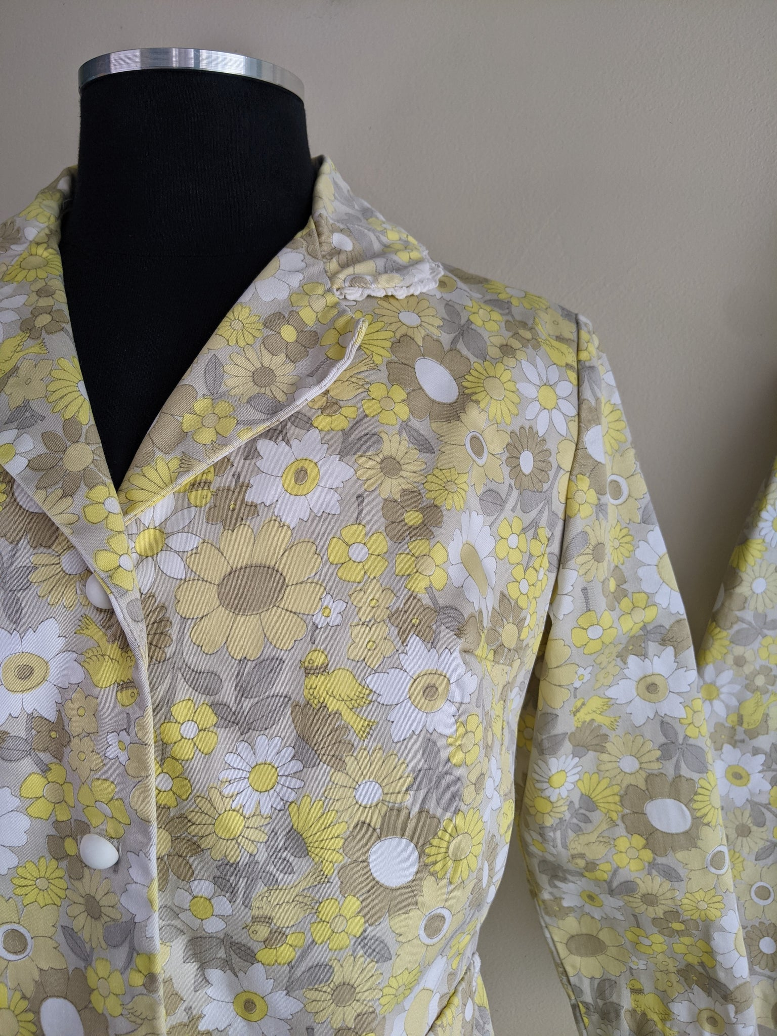 Yellow Floral Jacket & Double Skirt Set