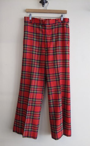 Red Plaid Bellbottoms of Your DREAMS!