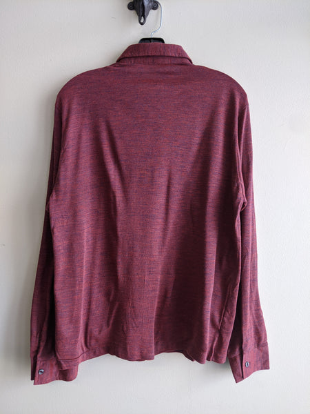 1970's Long-Sleeve Burgundy Polo