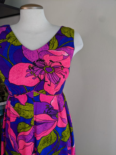 Neon 70's Hawaiian Dress