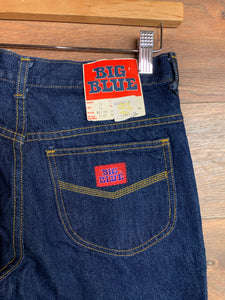 "BIG BLUE Wide Leg Thick Denim 28"" waist"